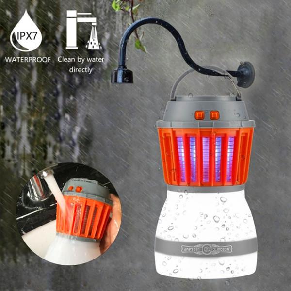 Orange Camping Lantern Waterproof Mosquito Bug Killer Lamp Zapper In//Outdoor