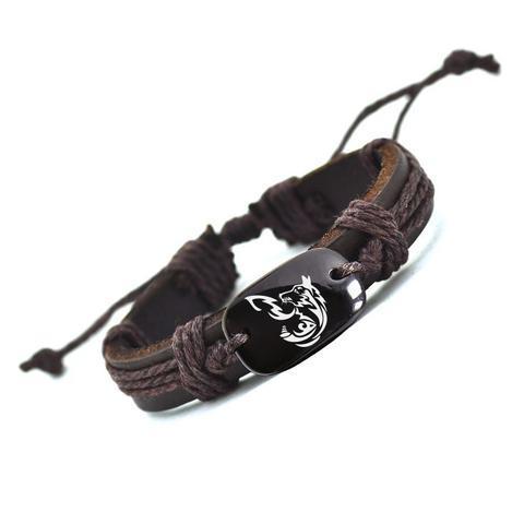 Bracelet en cuir de chien Personlity de haute qualité Bracelets faits à la main pour hommes YP2760