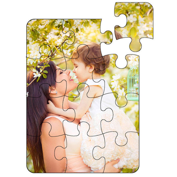 top popular blank puzzle for dye sublimation heart transfer printing pearl light White paper puzzles customization sublimation diy puzzles child toys 2019