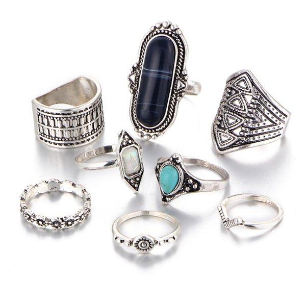 sliver/blue ring