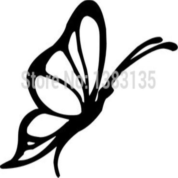 HotMeiNi Wholesale 20pcs/lot Butterfly Flying Car Sticker For Truck Window Bumper Auto SUV Door Laptop Kayak Vinyl Decal