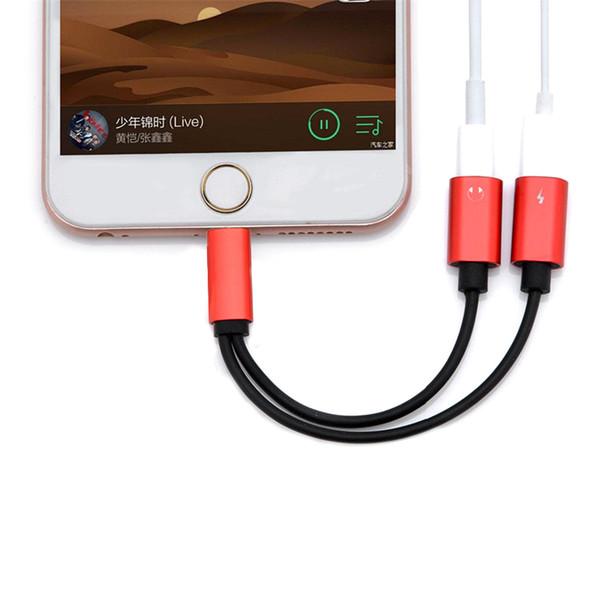2 in 1 Doppelstecker Kabel für Lightnning zu Kopfhörer Audio Ladegerät Adapter für iPhone 7 8 X Plus für IOS 10.3