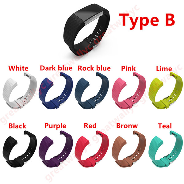 top popular Silicone Strap For Fitbit Charge2 Band Fitness Smart Bracelet Watches Replacement Sport Strap Bands for Fitbit Charge 2 VS Gear S3 Band 2019