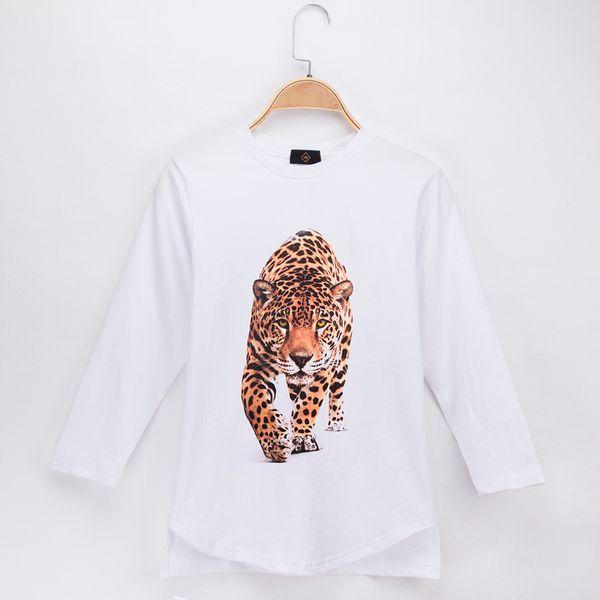 2018 Fashion Nova Children T-shirt Beast Of Prey Leopard Panther 3D Print Cotton Full Long Boys T Shirts Girl Tops Clothing Free Shipping