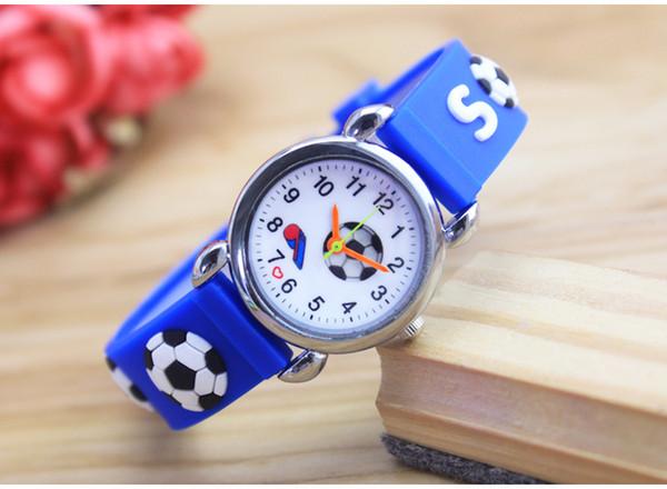 New 3D Cartoon fashion silicone football kids Watch Children Girls Boys Students Quartz Wristwatches relogio kol saati clock For World Cup