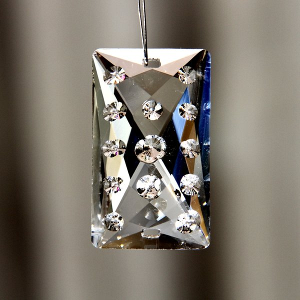 Top Quality 10pcs 30*50mm Crystal Hanging Faceted Square Pandants, Crystal Chandelier Pendants, Lighting Parts For Decor