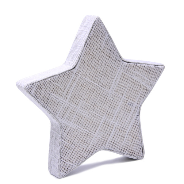 Linen Star Shape Necklace Chain Bracelet Jewelry Display Stand Holder Showcase