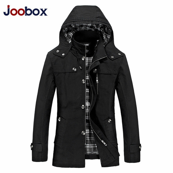 2018 New hoodies long trench coat men clothing Quality male black trench coat windbreaker jacket plus size 5XL JK11