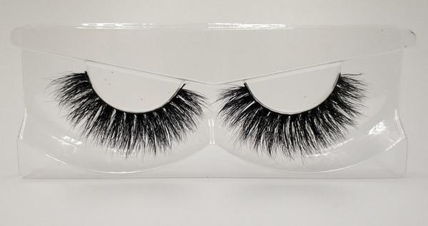 3D Mink False Eyelashes 100% Mink Fur Long Thick Hand-made Reusable Eyelashes Natural 1 Pair Pack MTL004