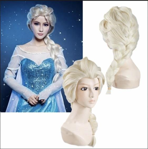 beautiful cartoon princess snow queen adult wigs light gold brown white cosplay dressing up wig halloween christmas costume hair accessories