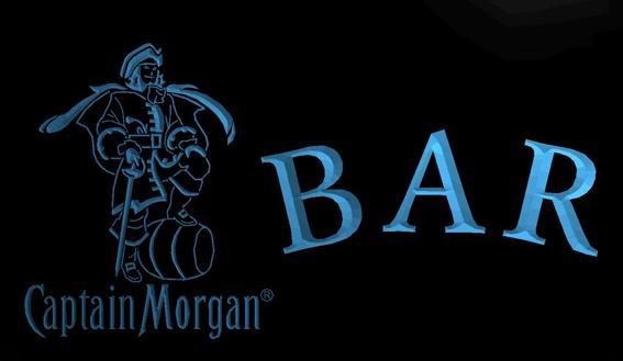 LS745-b-BAR-Captain-Morgan-Neon-Light-Sign Decor Free Shipping Dropshipping Wholesale 8 colors to choose