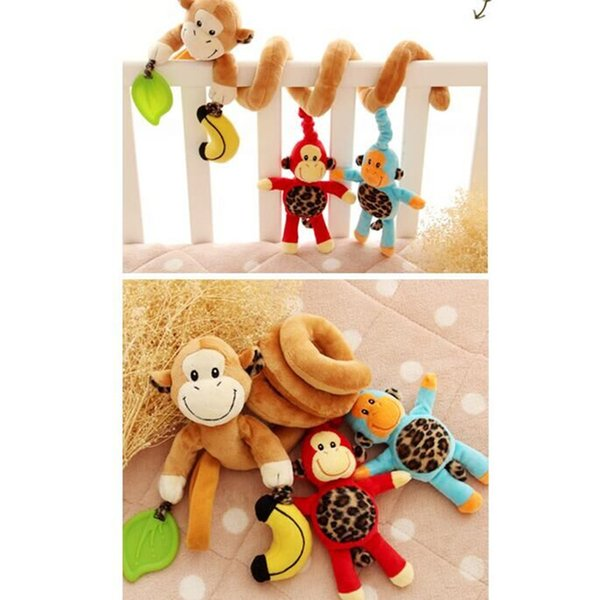 Sozzy Animal Activity Culla Hanging Toys Spiral Baby Musical Pull and Shake Passeggino Seggiolino auto Ornamento Comfort Giocattoli per bambini