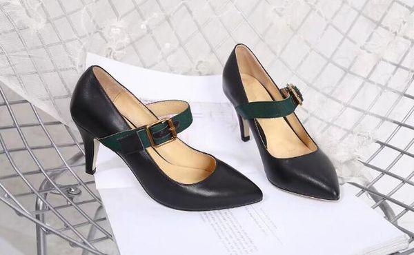 fb6f1884b37 AAAAA Quality Women Sylvies Leather 7.5cm Mid Heel Pumps Shoes