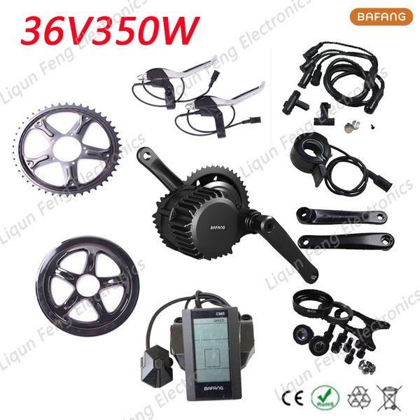 Envío gratis bicicleta eléctrica Kit de conversión de motor BBS01 36 V 350 W 8fun / bafang hub bicicleta de motor rueda con 36 V batería de iones de litio