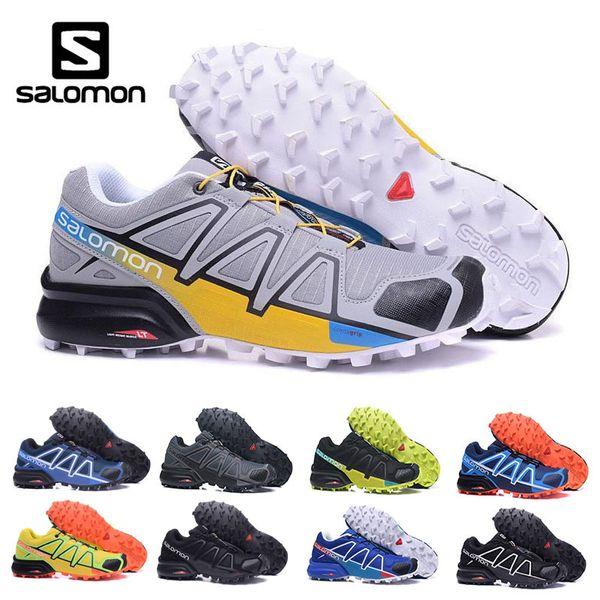 Salomon Cool grau Speed Cross 4 CS super rutschfest Langlaufschuhe für Herren Atmungsaktive Herren gelb blau schwarz Laufschuhe