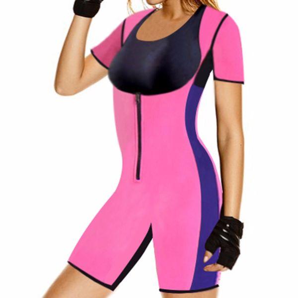 2018 S-6XL Plus Size Sexy Sweat One Piece Body Shaper Waist Corset Hot Shaper Sweat Enhancing Fitness Thermal Bodysuits E94b