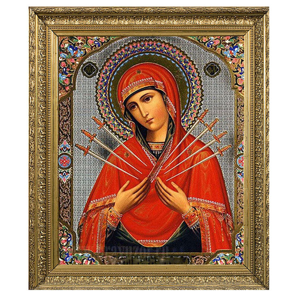 best selling Diamond embroidery icons Religious Virgin Mary Diamond Painting Custom 5D DIY Beaded Embroidery Kits Cross Stitch 3D Images