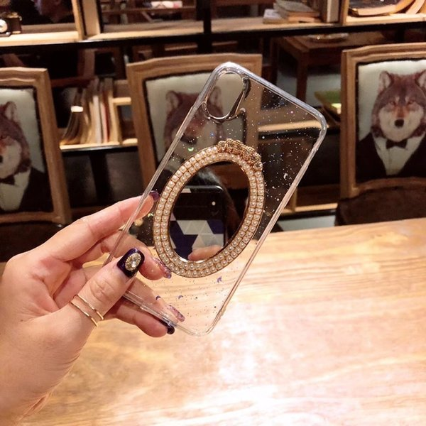 YunRT Diamonds with mirror Flicker powder design Mobile phone shell for iPhone 6 6p 7 7p 8 8p ilica gel material soft case