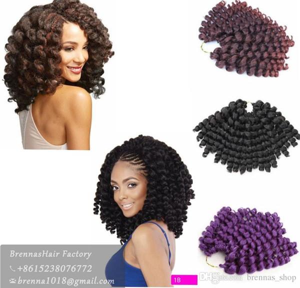 Free Shipping Good Jumpy BOUNCE Wand Curl Twist Janet Crochet Braids Marley Bounce 8-10 inch Twist Braid Kanekalon Synthetic Hair Extension