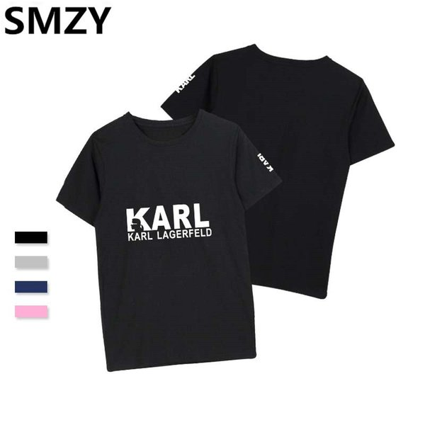 SMZY KARL t-shirts men t shirts comfortable casual tag-free tshirt men fashion funny print t-shirts t shirts soft tee
