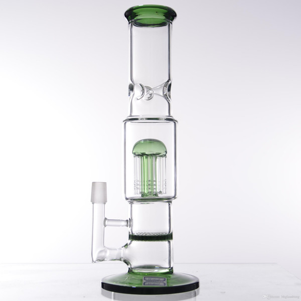 31cm honeycomb bong green perc 12 inch straight tube bong mushroom glass water pipe sale for cheap 18.8mm bong 18 mm