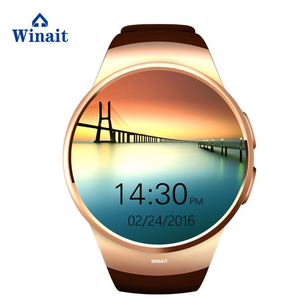Wristband new KW18 enclosed speaker bracelet GSM card music LCD round screen smart watch fashion Distance calculation