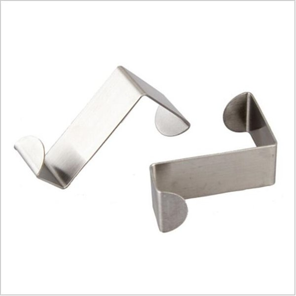 Wholesale- 1pcs/lot Stainless Over Door Hooks Kitchen Cabinet Draw Towel Clothes Pothook can carry 10kg Free Shipping