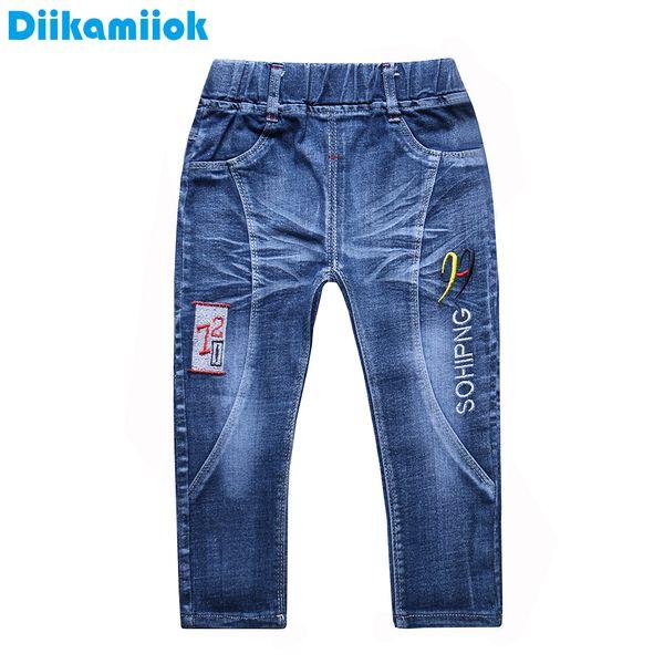 2018 Nueva Moda Niños Pantalones Jeans Niños Boy Denim Pantalones Largos Primavera Otoño Pantalones para Niños Ropa Verano 3-7 años JY2-02
