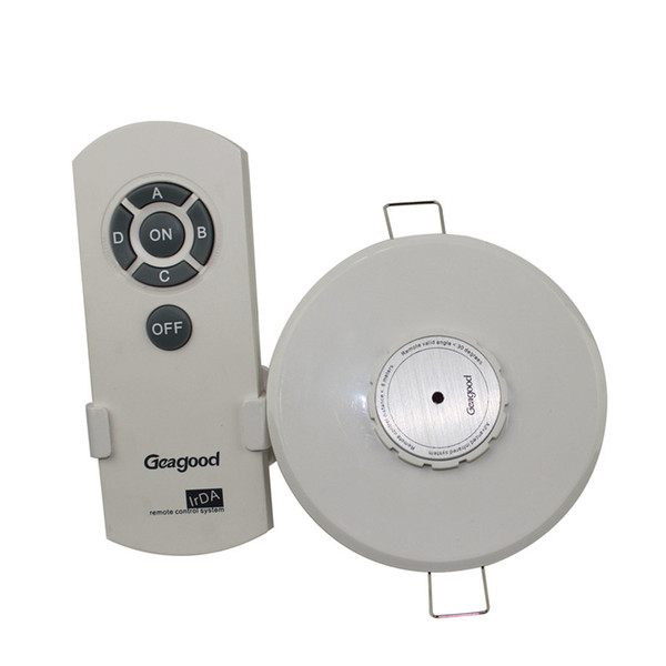 Round Infrared Remote Control Switch 4 Way High Power IR Wireless Remote Switch for Exhibition Hall Lighting Shop
