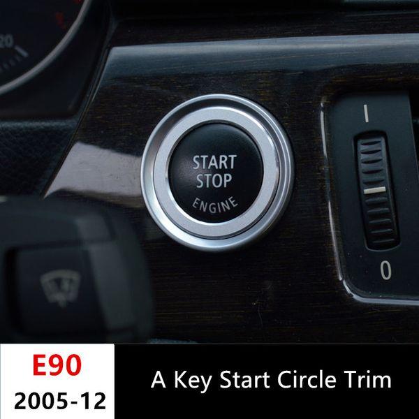 Auto Start Stop Button Abdeckung Trim Für BMW 3er E90 318 320 325i 2009-12 Aluminium Motor Power Push Button Zierring