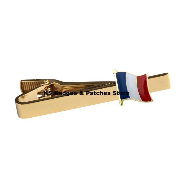 France National Flag Tie Clip