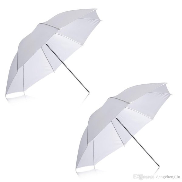 "2 Pack 33""/84cm White Translucent Soft Umbrella for Photo and Video Studio Shooting free shipping"