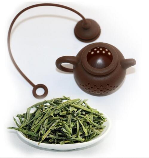 Hot Kitchen Dining Bar Creativo Silicone Bustina di tè forma di tè infusore Filtro sicuro pulito