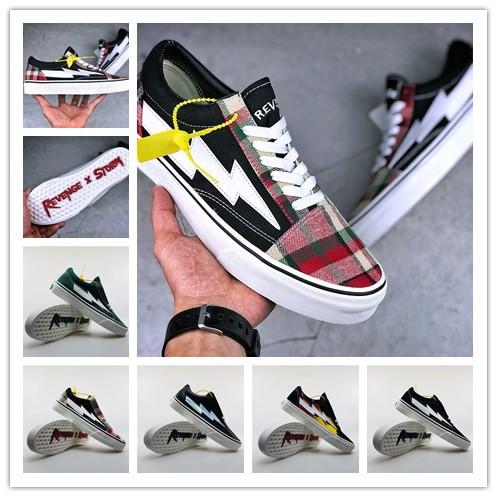 top popular New 2018 Revenge X Storm Old Skool Canvas Men Shoes Men's Sneakers Skateboarding Casual Shoes Women Skate Shoes Womens Casual Boots 2019
