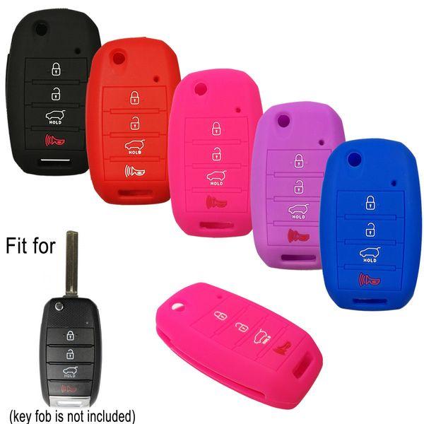 4 Boutons À Distance Flip Clé Fob Couverture Case Holder Pour KIA Cerato K3 Optima K5 Rio Forte Carens Soul