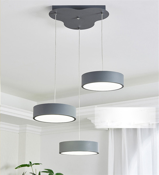 Modern minimalist LED round Pendant Light restaurant 3 Pendant Lamp For Bar living room bedroom Suspension Home lighing G848