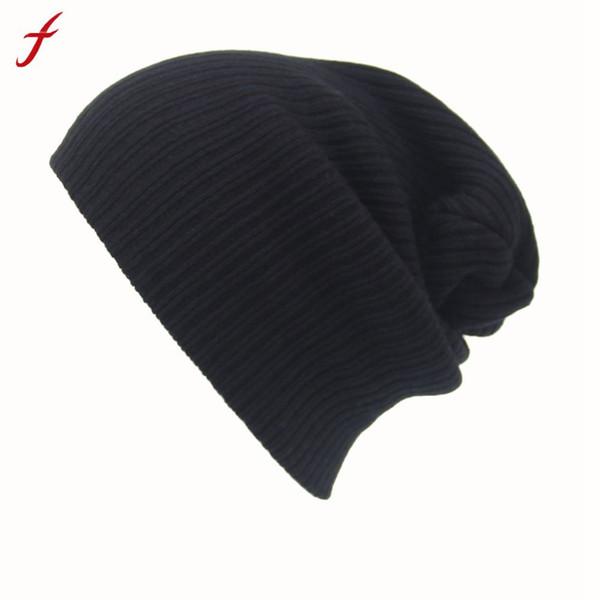 Feitong Winter Casual Hip Hop Beanies Hat For Men Women Knitted Hats Crochet Ski Cap Warm Skullies Gorros