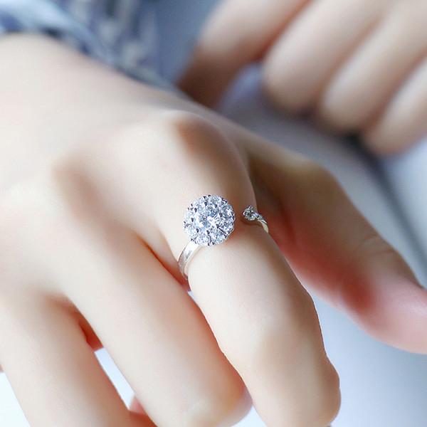 El taladro giratorio vibrato 925 plateado anillo puede convertir el anillo del anillo en el temperamento del anillo.