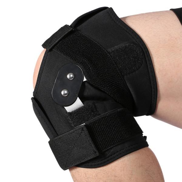 b24257832d Adjustable Knee Support Pad Brace Protector Arthritis Knee Joint Patella Support  Leg Compression Sleeve Hole Hinged Kneepad