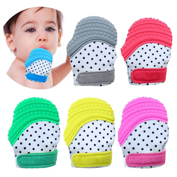 12 Style Silicone Teether Baby Pacifier Glove Teething Glove Newborn Nursing Mittens Teether Chewable Nursing Beads for Infant Baby B