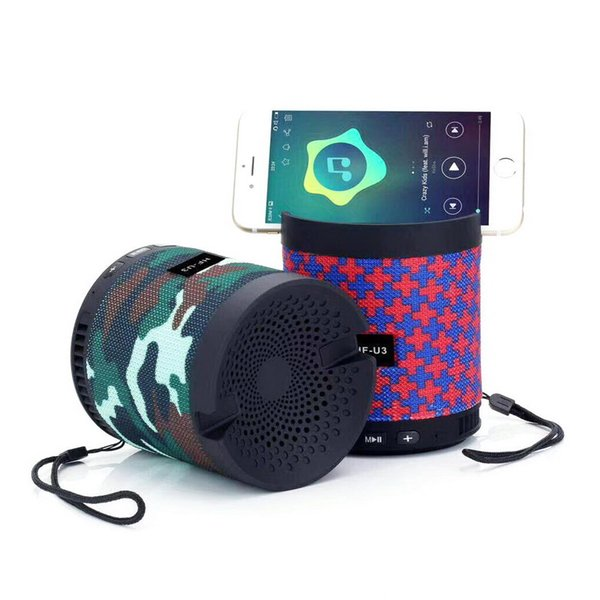Wireless Bluetooth Speaker With Phone Holder Bracket Speakers Subwoofer Stereo Card U Disk Mini Portable For Samsung Note 8 S8 S9 Plus Edge