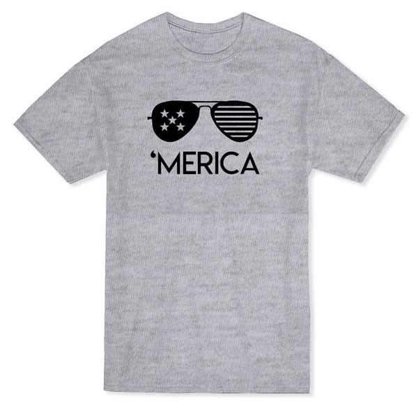 Urban 'Merica Glasses Graphic Men's T-shirt Loose Clothes T Shirt Discount 100 % Cotton T Shirt for Men'S