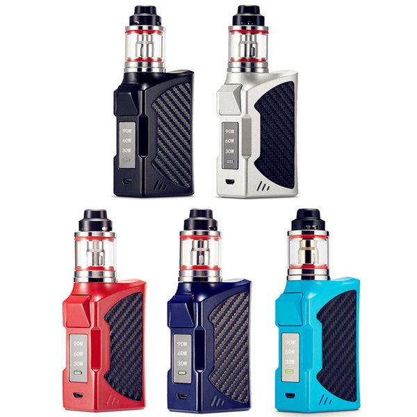 Authentische BIGBOX 90W Vape Mods Starter Kits mit Display Big Vapor 2200mAh Batterie Smoking Box Mod Elektronische Zigarette DHL geben frei
