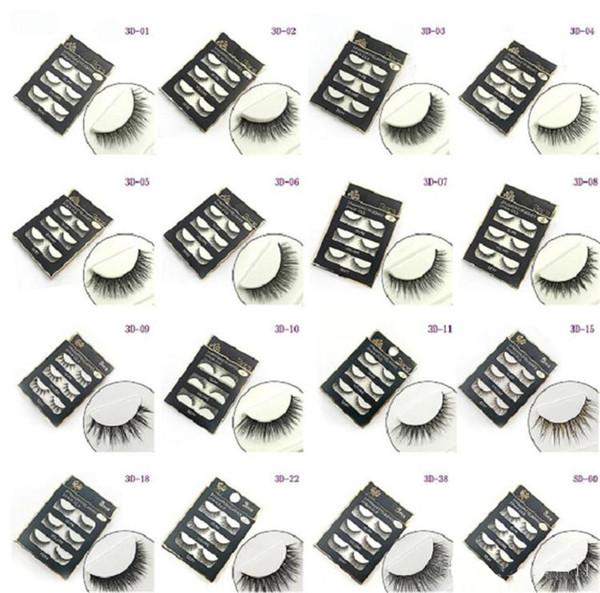 HOT Natural Handmade Black False Eyelashes Fashion Makeup Fake Eyelashes Cross Messy Soft 3D Eye Lashes 3pairs/set High Quality Best Price