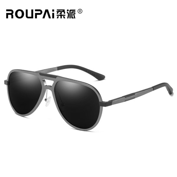 Aluminium Magnesium Fashion Unisex Sun Glasses Polarized Coating Mirror Sunglasses Round Male Eyewear For Men UV400 201904