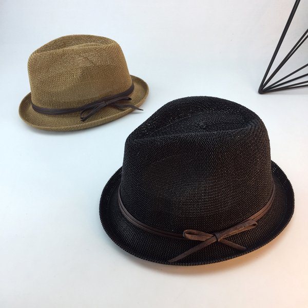 9c49b293916710 2018 Spring and Summer Caps Sun Straw Hats For Men and Women Lady straw Hat  Bowler