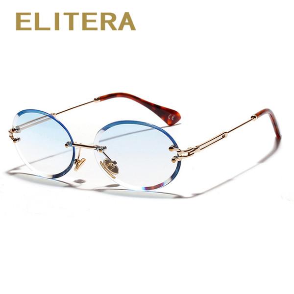 ELITERA небольшие круглые солнцезащитные очки для Леди оправы рамка  элегантный очки e559759f430