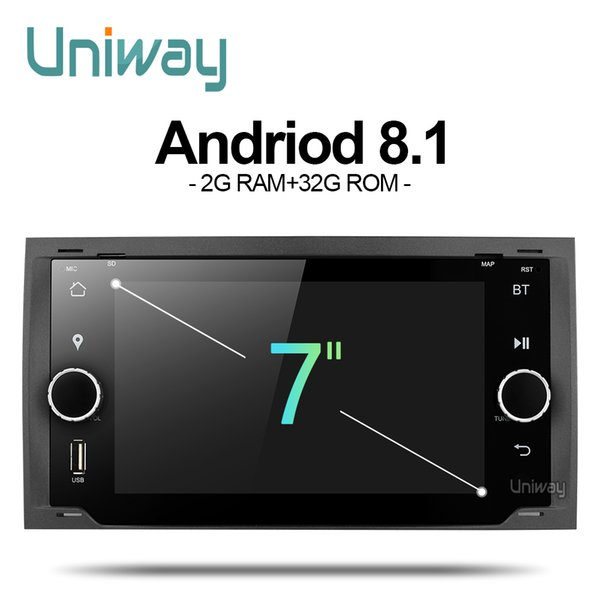 uniway ALLFKS7071 2G+32G android 8.1 car dvd for Ford Mondeo C-max focus galaxy S-max fusion ranger escape expedition fiesta
