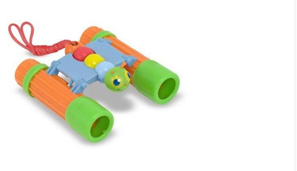 Vente en gros- télescope enfants Giddy papillon jouets jumelles roses vertes en option