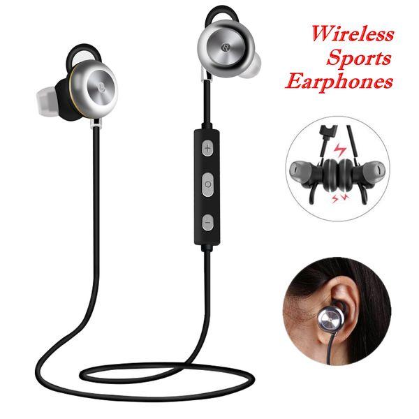 CSR 4.1 Auriculares deportivos inalámbricos X9 Banda para el cuello portátil Cancelación de ruido Auriculares estéreo Auriculares Auriculares con micrófono Bluetooth 4.0